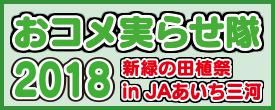 田植え体験イベント おコメ実らせ隊2018 新緑の田植祭 in JAあいち三河